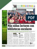Más Niños Lectores Con Bibliotecas Escolares