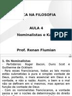OAB - Ética Na Filosofia - Aula 04 Nominalistas e Kant