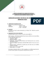 Especificaciones Tecnicas Sistema Vsat