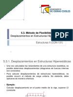 5.3. Método de Flexibilidad Análisis Estructuras Hiperestáticas II