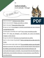 Biodiversidade - animais em extinção em Portugal