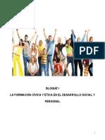 Actividades de Formación Cívica y Ética I