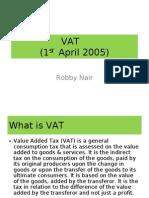 VAT Robby Nair