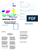 agenda 2017 Palabras Magicas