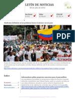 Boletín de noticias KLR 08JUL2016