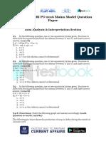 Live Leak – SBI PO 2016 Mains Model Question Paper