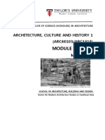 architecture culture and history 1  arc60103 arc1313  - module outline - march 2016  1