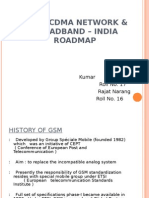 GSM  CDMA Network & Broadband û india roadmap.ppt