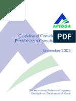 Consulting in Alberta (APEGA)
