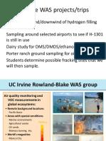 Whole Air Sampling - Rowland-Blake Group, UC Irvine