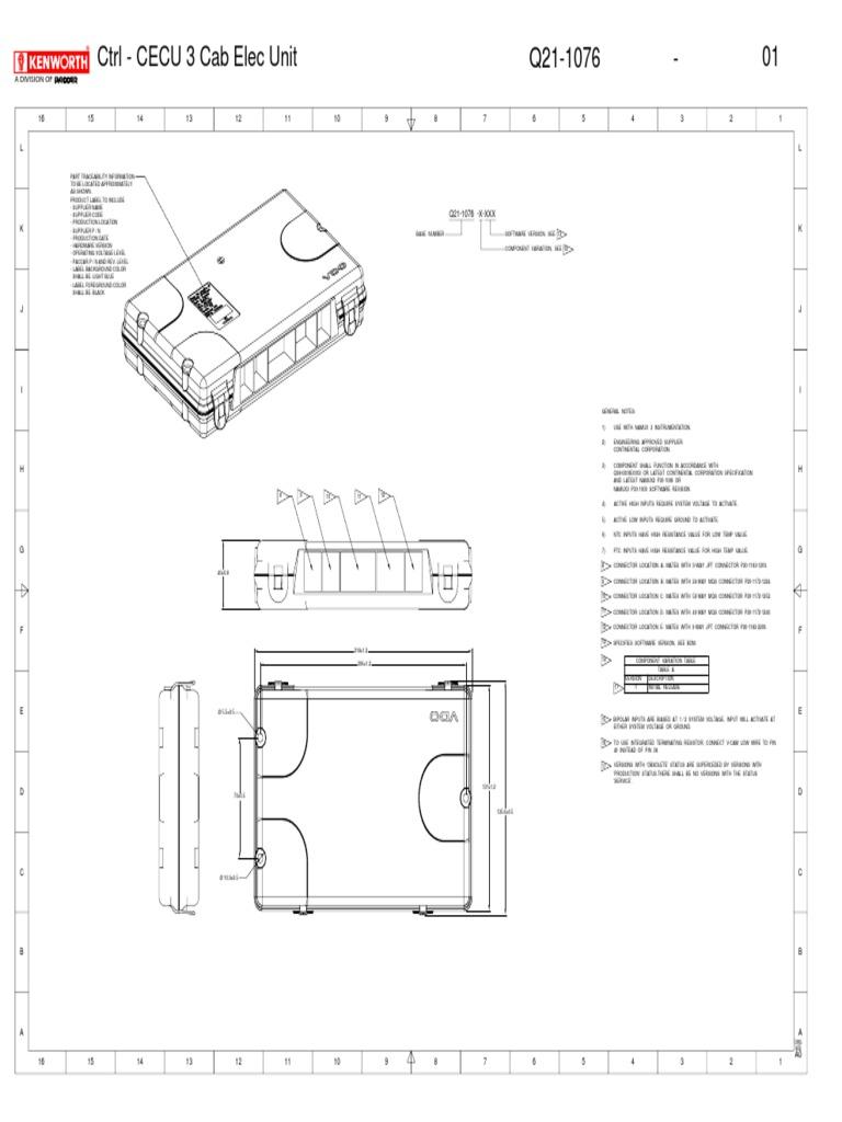 cecu 3 kw t800 (1) pdf resistor anti lock braking system Kenworth T800 Wiring Diagram
