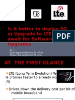 Is It Better to Deploy 3G