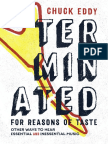 Terminated for Reasons of Taste by Chuck Eddy