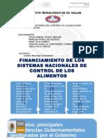 Financiamiento de Los Sistemas de Control de Los Alimentos
