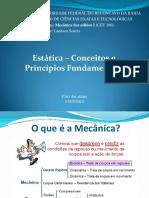 Estática – Conceitos e Princípios Fundamentais