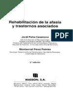 Peña Casanova Jordi Y Perez Pames Montserrat - Rehabilitacion de La Afasia Y Trastornos Asociados
