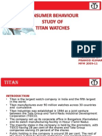 Titan ppt on consumer behaviour