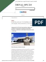 """Entenda Como as """"10 Medidas Contra a Corrupção"""" Vão Aumentar a Corrupção - Jornal Opção"""