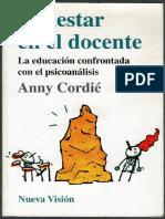 Malestar en el Docente -Anny Cordié