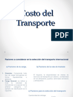Costo Del Transporte