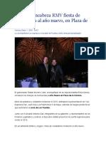 01.01.16 Encabeza RMV Fiesta de Bienvenida Al Año Nuevo, En Plaza de La Victoria