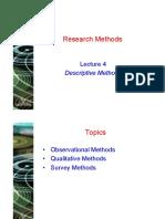 Lecture 4 - Descriptive Methods