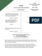 Iowa Tribe of Kansas and Nebraska v. Salazar, 607 F.3d 1225, 10th Cir. (2010)