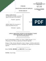Public Employees v. Shalala, 153 F.3d 1160, 10th Cir. (1998)