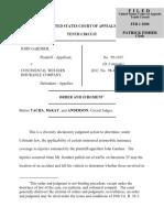 Gardner v. Continental Western, 10th Cir. (2000)