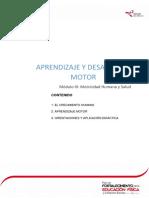 Aprendizaje y Desarrollo Motor