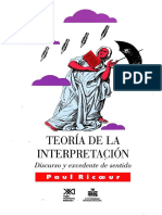 Paul Ricoeur - Teoria de la Interpretacion.pdf