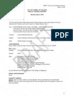 Draft Minutes May 2, 2016