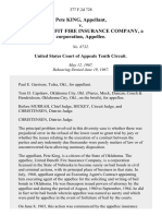 Pete King v. United Benefit Fire Insurance Company, a Corporation, 377 F.2d 728, 10th Cir. (1967)