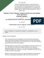 Production Credit Association of Southern New Mexico v. Alamo Ranch Company, 951 F.2d 1260, 10th Cir. (1991)