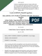 Curtis Sampson v. Oklahoma City Public Schools Board, and Arthur Steller, Superintendent of Oklahoma City Public Schools Oklahoma City Police Department Robert Wilder, Chief of Police Dave McBride Deputy Chief and Oklahoma Education Association Union, 972 F.2d 357, 10th Cir. (1992)