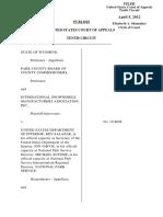 Wyoming v. US DEPT. OF INTERIOR, 674 F.3d 1220, 10th Cir. (2012)