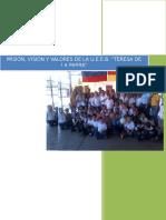 Mision, Vision y Valores de Ueeb Teresa de La Parra