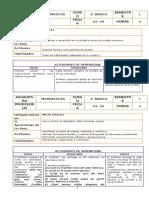 Matematicas Planificacion - 2 Basico Junio
