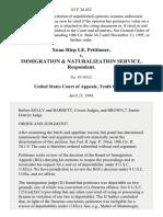 Xuan Hiep Le v. Immigration & Naturalization Service, 83 F.3d 432, 10th Cir. (1996)