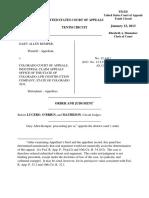 Kemper v. Colorado Court of Appeals, 10th Cir. (2013)