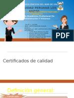 Calidad y certificacion