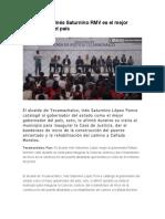 07.01.16 Para Inés Saturnino RMV Es El Mejor Gobernador Del País