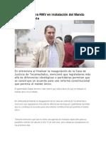 07.01.16 Reitera RMV en Instalación Del Mando Único en Puebla
