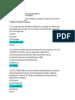 Modelo de Preguntas Para La Prueba Objetiva de Planificación y presupuesto