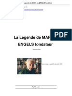Rubel - La légende de Marx ou Engels fondateur