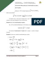 Capítulo IV. Ecuaciones Diferenciales Por Transformadas de Laplace