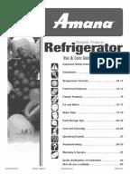 Subzero Service Manual Refrigerator Door