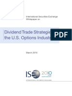Dividend Trade Strategies in the US Options Industry