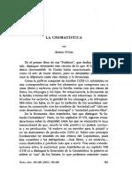 ARISTÓTELES-CREMATISTICA