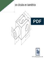 Pieza Con Círculos Isométricos Archivo Descargable